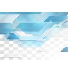 Bright blue tech corporate geometric background vector