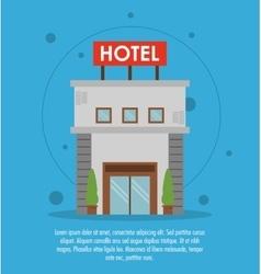 Building hotel service icon vector