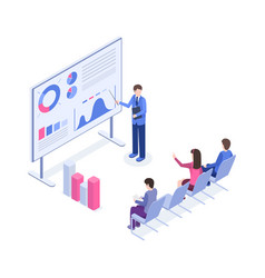 Business presentation isometric color vector