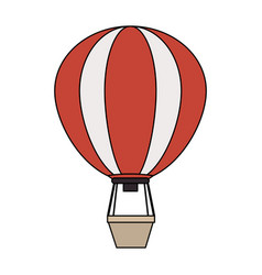 color image cartoon hot air balloon vector image