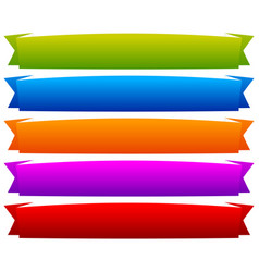 colorful banner ribbon or tape band strip vector image