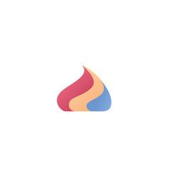 Colorful cream drop for cake logo icon vector