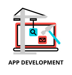 Concept app development icon vector