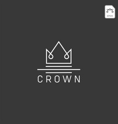 crown royal queen line logo template vector image