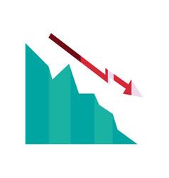 Decrease diagram chart business vector