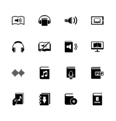 ebooks - flat icons vector image
