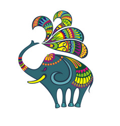 elephant animal vector image