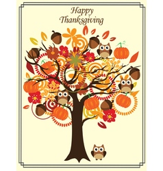 Fall tree thanksgiving vector