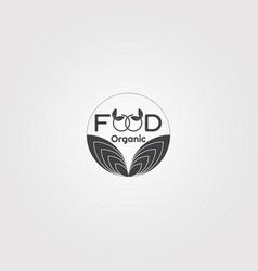 food logo template logo for restaurant business vector image