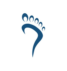 foot palm icon design template isolated vector image