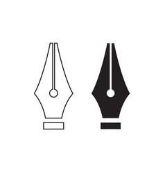 fountain pen nib vector image