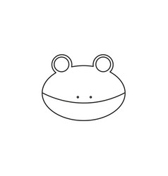 frog line icon vector image