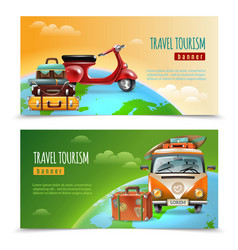 get around globe banners vector image