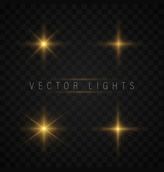 glow light effect vector image