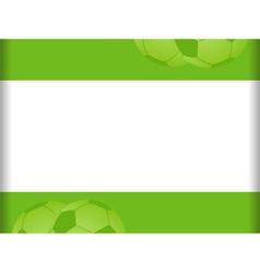Green and white football background vector