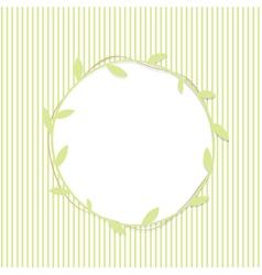 Green Leaf Round Frame vector