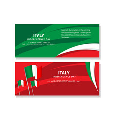 Happy italy independence day celebration poster vector