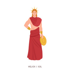 helios or sol - olympian god or deity sun in vector image