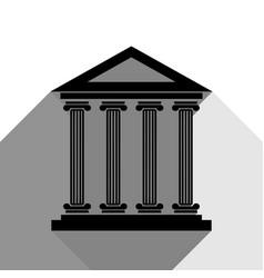 Historical building black vector