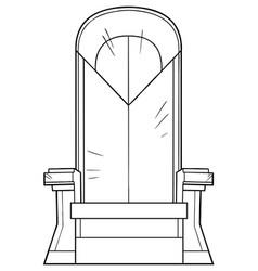 iron throne line art vector image
