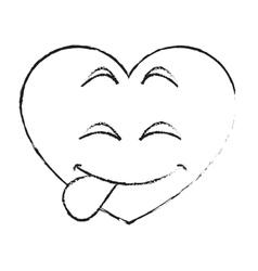 Isolated heart cartoon design vector