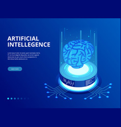 isometric artificial intelligence business concept vector image