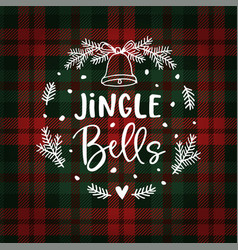Jingle bells christmas greeting card invitation vector