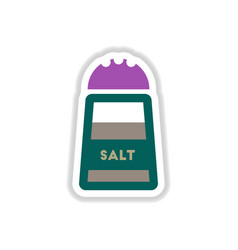 label icon on design sticker collection salt vector image vector image