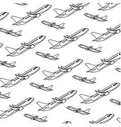 line side travel airplane transport background vector image