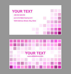 Magenta abstract business card template design vector