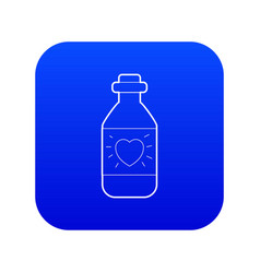Medicinal drops for heart icon blue vector