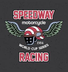Motorcycle speedway racing poster vector