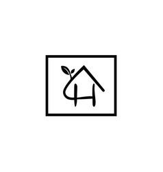 natural letter h modern alphabet symbol vector image