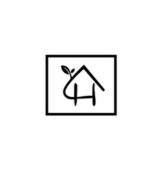 Natural letter h modern alphabet symbol with vector