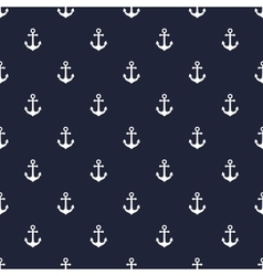 Navy blue anchor seamless pattern vector