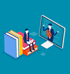 online education and learning research isometric vector image