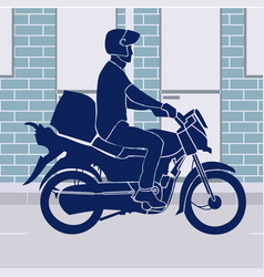 Online shopping motorcycle food delivery vector