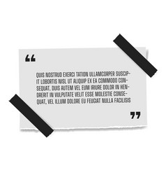 paper sheet with profound gray paper quote vector image