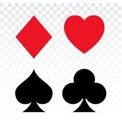 Playing card spade heart shapes club diamond vector