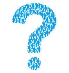 question shape of woman person icons vector image