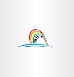 rainbow symbol icon vector image