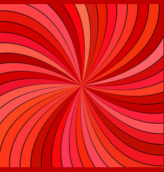 red hypnotic abstract striped swirl background vector image