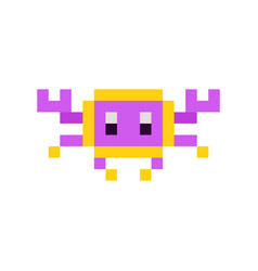 Retro game character vector