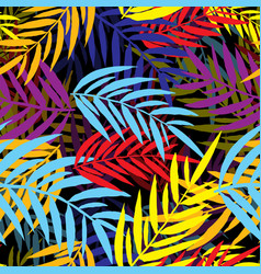 seamless repeating palm leaf background vector image