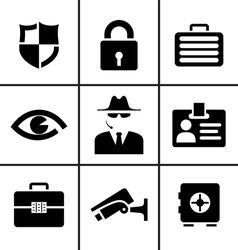 Security and safety icons set vector image