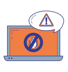 security system and antivirus vector image