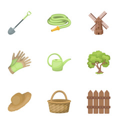set of pictures about gardening village vector image