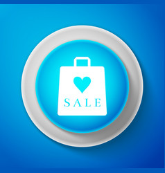 shopping bag shop love heart symbol with sale vector image