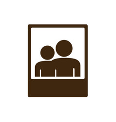 silhouette frame photography couple people icon vector image