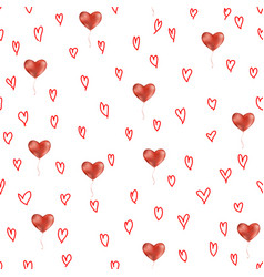 simple hearts seamless pattern vector image